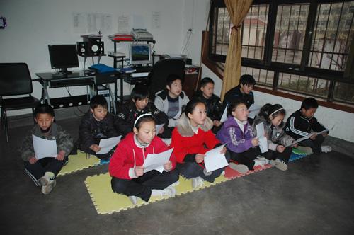 Photo4 chine 2010 cours avec les enfants
